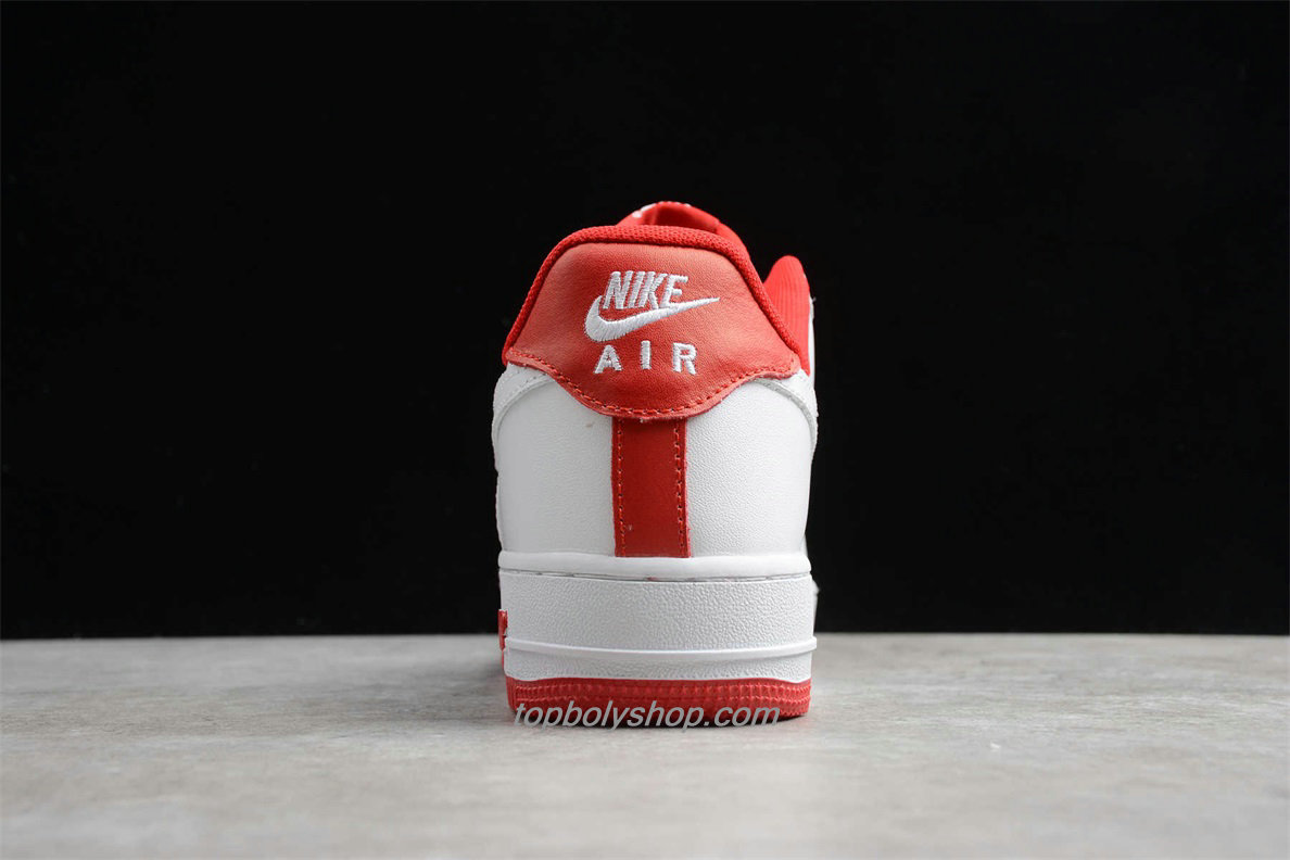 2020 Nike Air Force 1 07 LV8 Low CD0884 101 Wit / Rood Schoenen