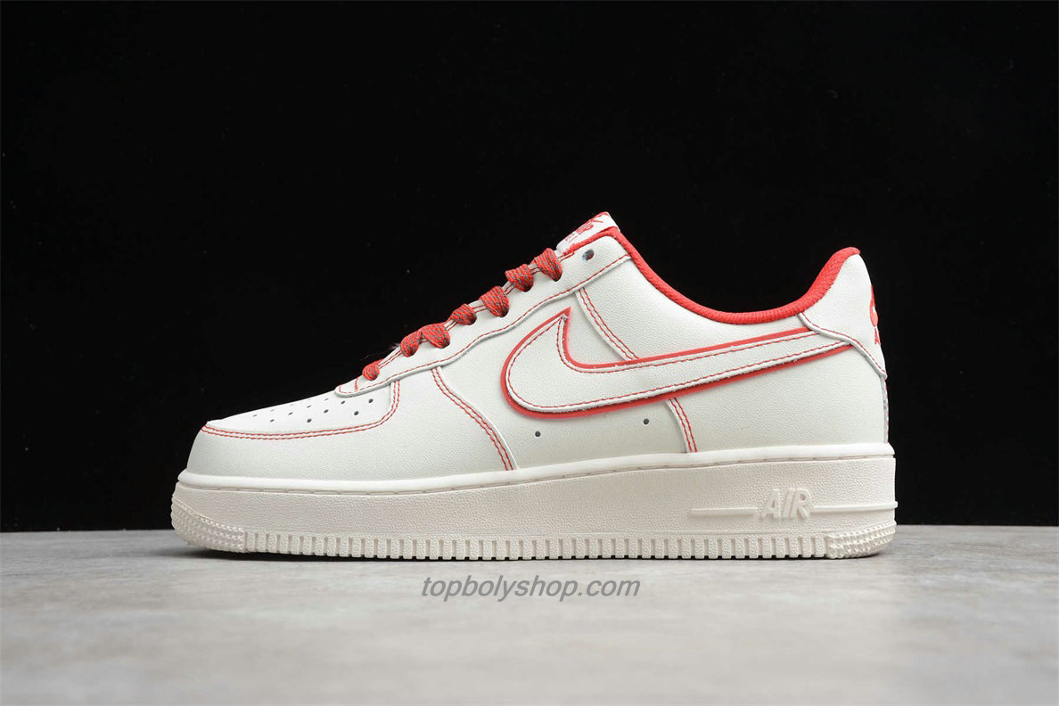 2020 Nike Air Force 1 07 Low 315122707 Wit / Rood Schoenen