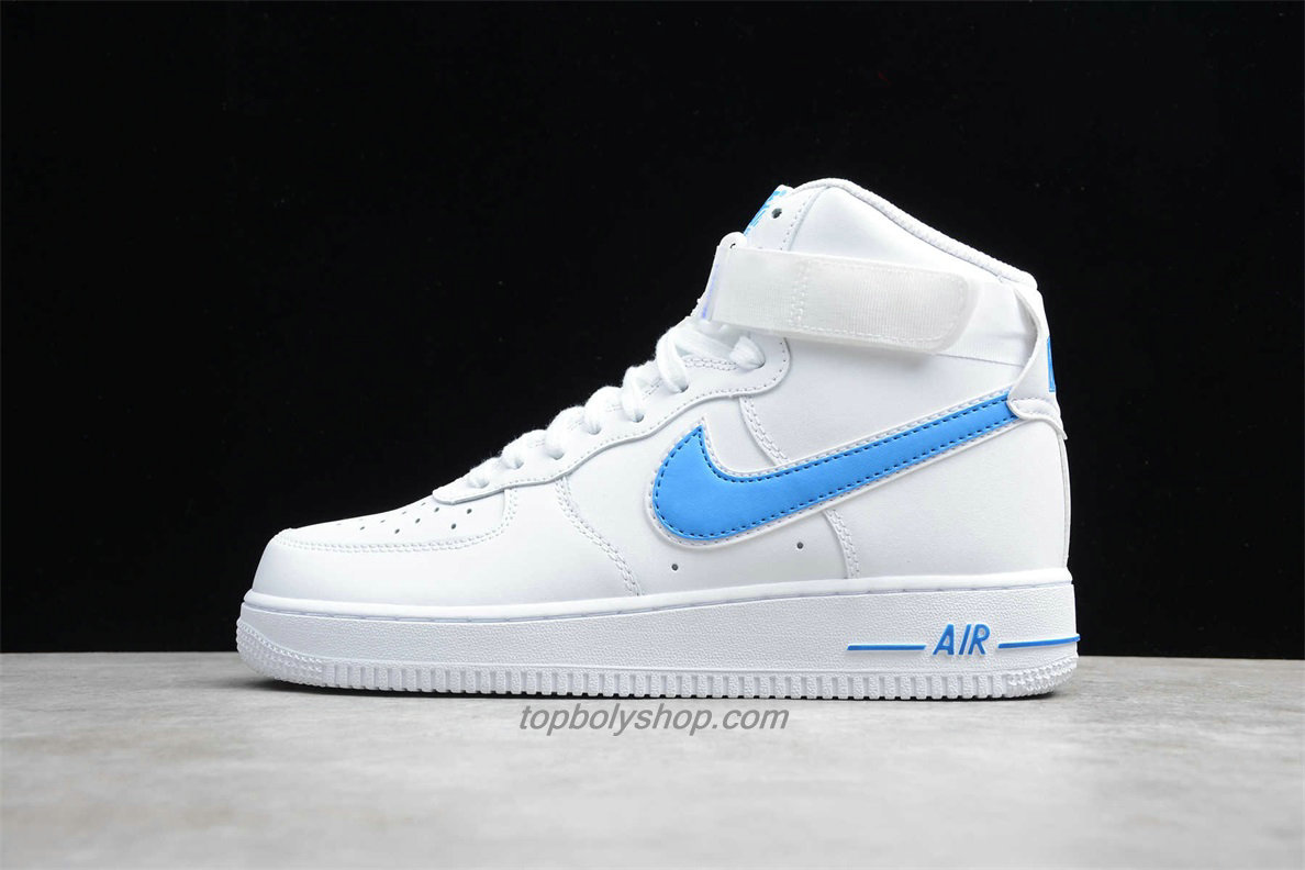 Nike Air Force 1 High 07 3 AT4141 102 Wit / Lichtblauw ...