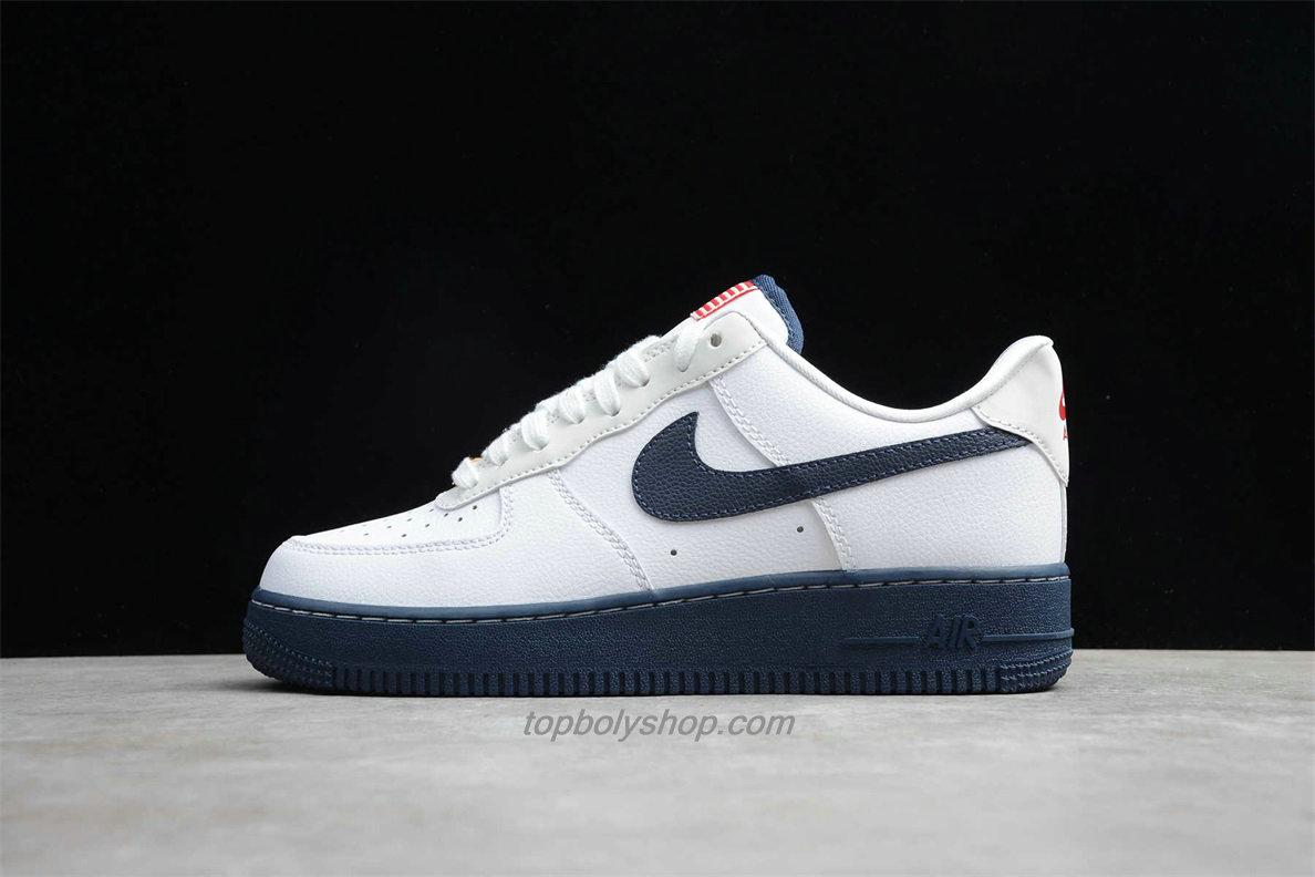 Nike Air Force 1 Low 07 LV8 CK5718 100 Wit / Marineblauw Schoenen