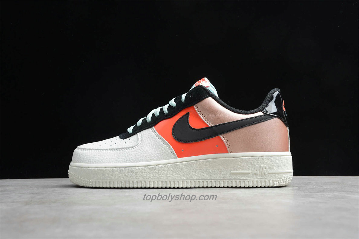 Nike Air Force 1 Low LO CT3429 900 Wit / Oranje / Goud Schoenen