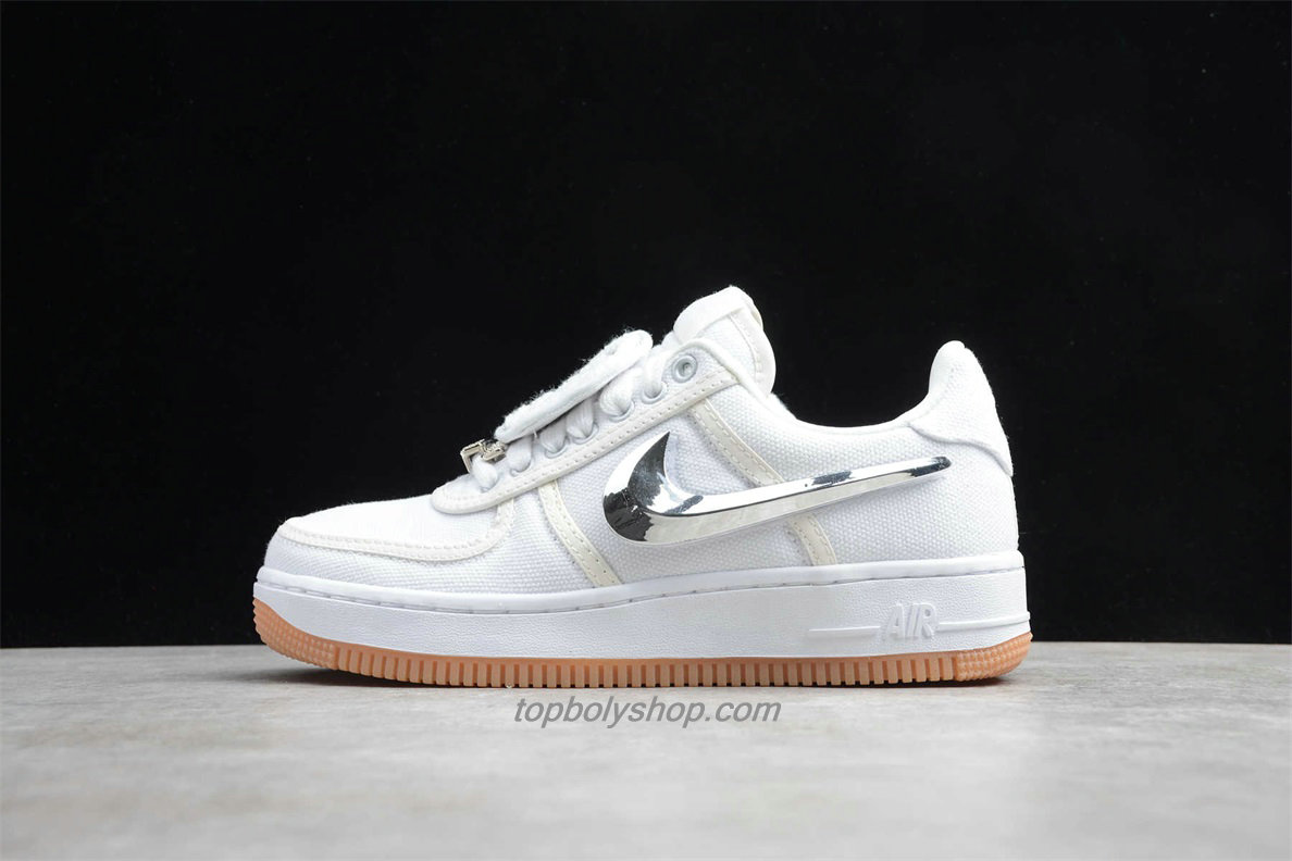 Nike Air Force 1 Low TRAVIS SCOTT AQ4211 100 Wit / Zilver Schoenen