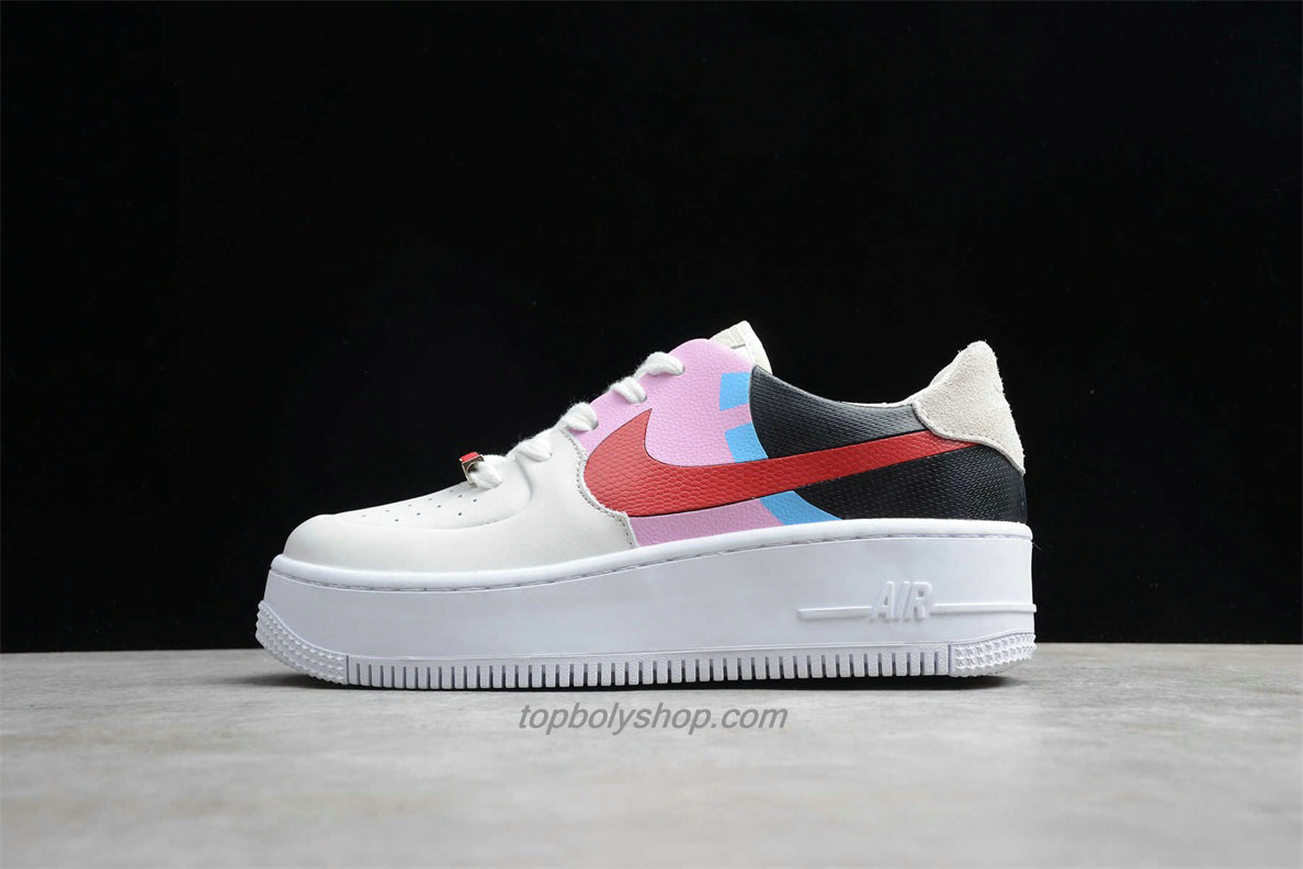 Nike Air Force 1 Sage Low LX Platform BV1976 003 Dames Zwart / Roze / Wit Schoenen