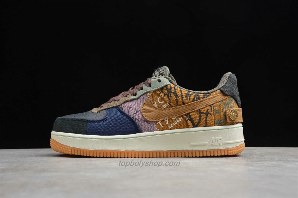 Nike Air Force 1 Low TRAVIS SCOTT CN2405 900 Zwart / Blauw / Khaki Schoenen